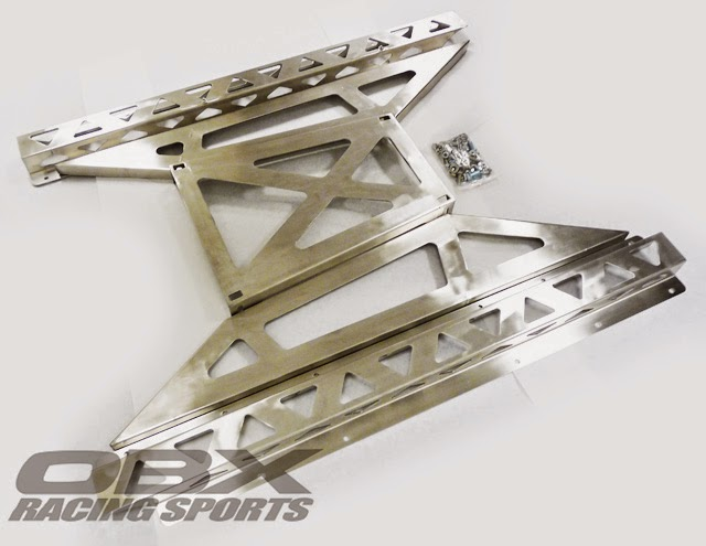 OBX Stainless 2.2mm Frame Rail & Butterfly Brace FITS 1990 thru 2005 ...