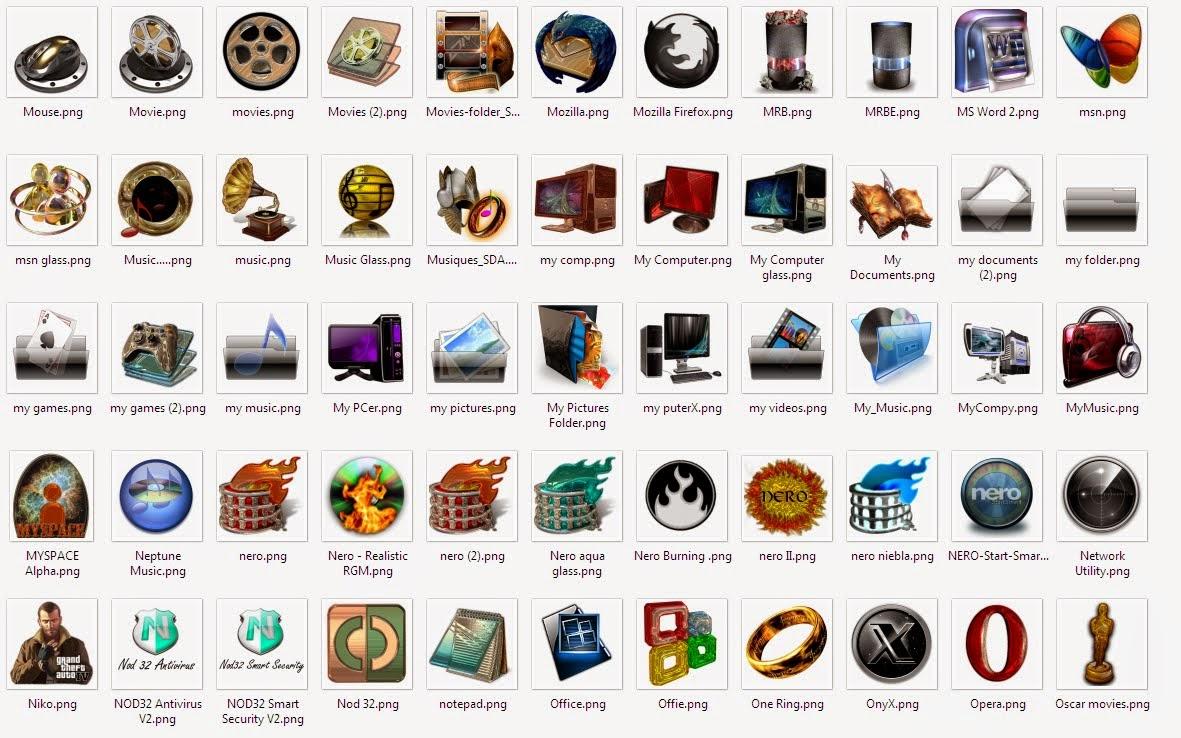 400 Iconos 3d para tus barras dock Png