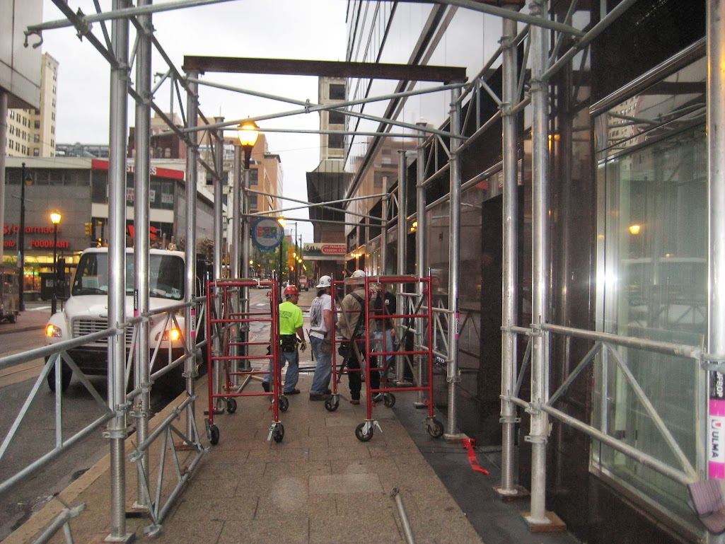 Where To Rent Scaffolding : How to erect a canopy aramark tower philadelphia