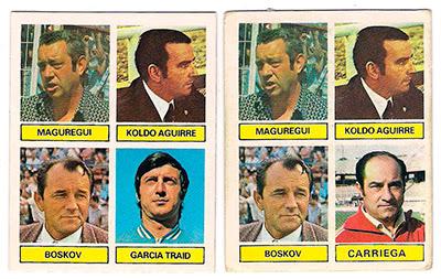 At. Madrid - Ediciones ESTE 81/82 Entrenadores