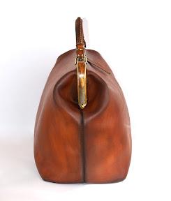 Кожаный саквояж ручной работы коричневый  art № 155 sac