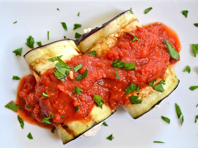 eggplant prosciuto rolls