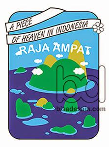 T-Shirt Raja Ampat karya owner kursus desain grafis Bandung
