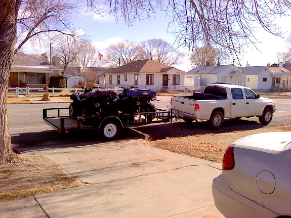 Saying goodbye to my ATVs, which I sold in January