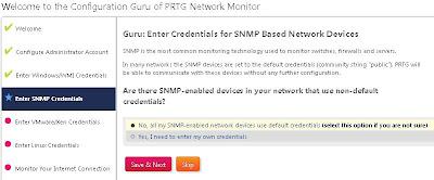 Configuración inicial de PRTG Network Monitor
