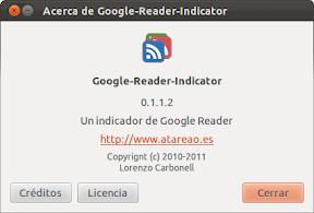 Google Reader Indicator en Oneiric Ocelot