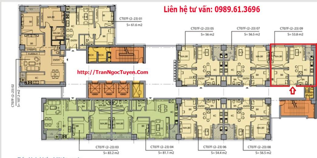 Bán chung cư Dương Nội 54m2