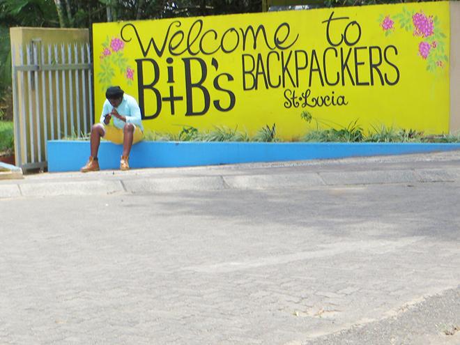 Muurschildering bij Bibs Backpackers, St. Lucia - Zuid Afrika