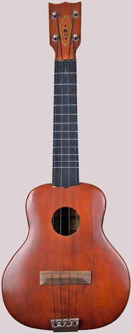 JMG Archtop Soprano Ukulele with replacement bridge