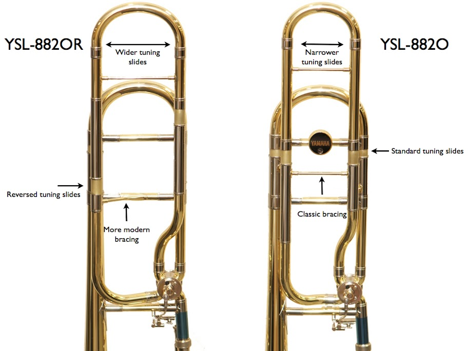 yamaha trombone. unlike the 882o, 8802r features a wider slide --meaning little less flexibility-- which helps horn produce more contemporary, dark sound. yamaha trombone