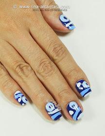 Blue Hoo Nail Art