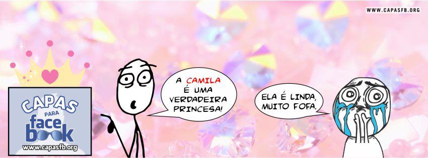 Capas para Facebook Camila