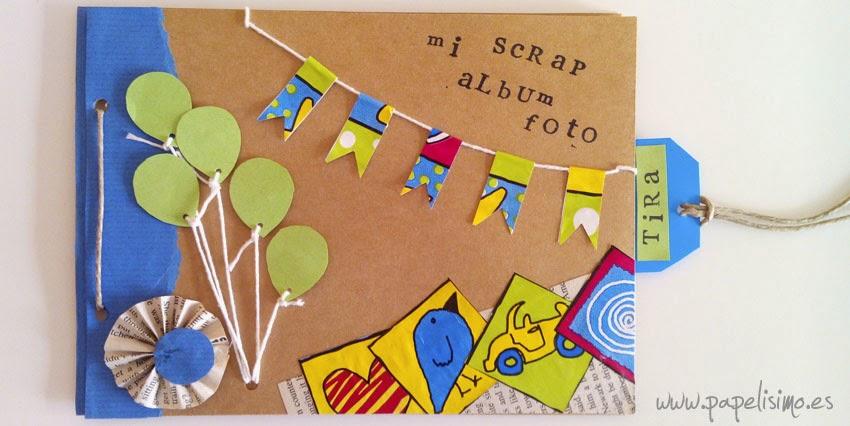 Scrapbooking para ni os papelisimo for Decoracion de album de fotos