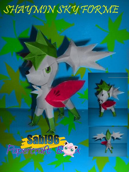 Pokemon Shaymin Papercraft Sky Forme