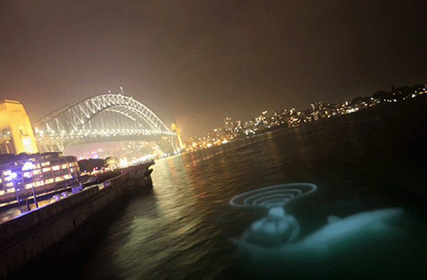 The Buchan Group's 'sub|version' light installation for Vivid Sydney