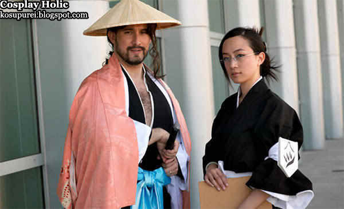 bleach cosplay - kyoraku shunsui and ise nanao