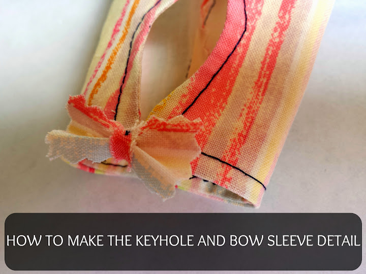 Plantain keyhole and little bow detail Tutorial