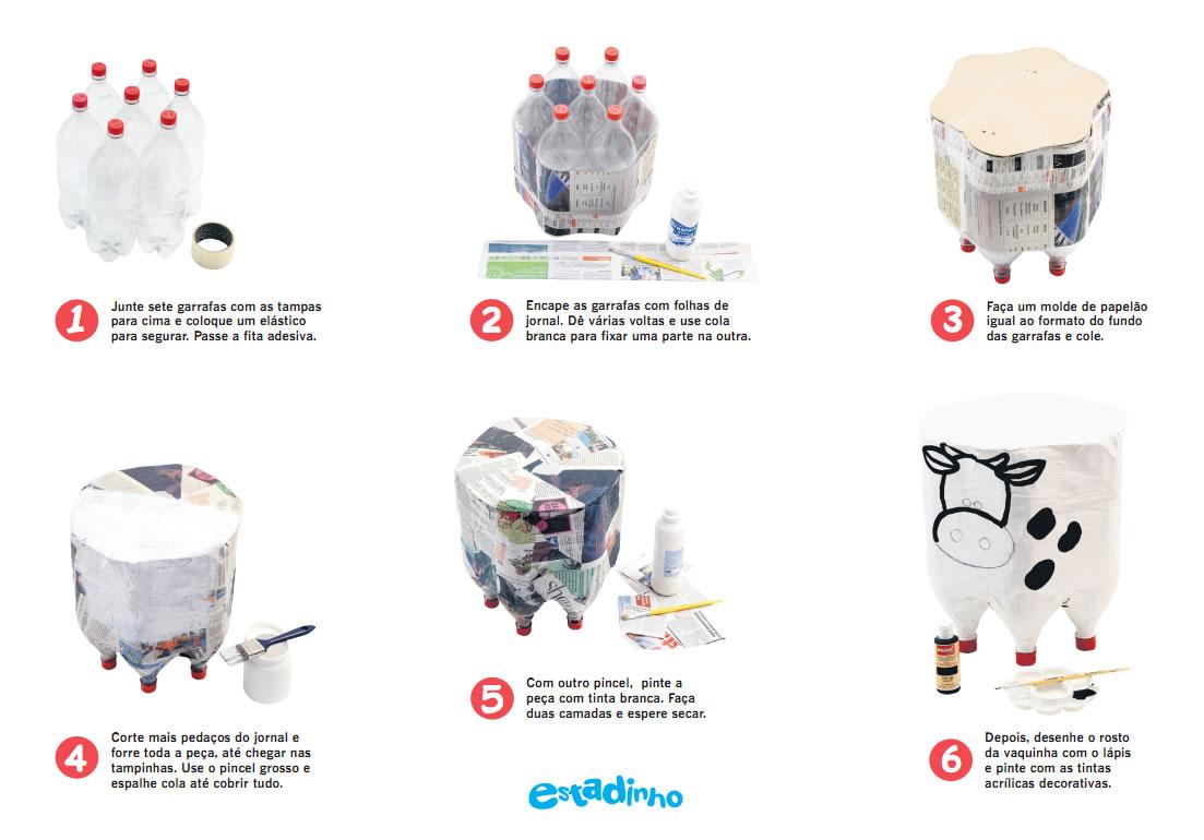 Puff infantil com garrafas pet passo a passo em fotos for Como criar cachamas en tanques plasticos