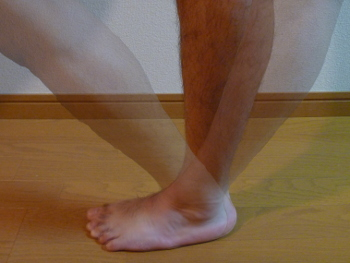 左足の可動角