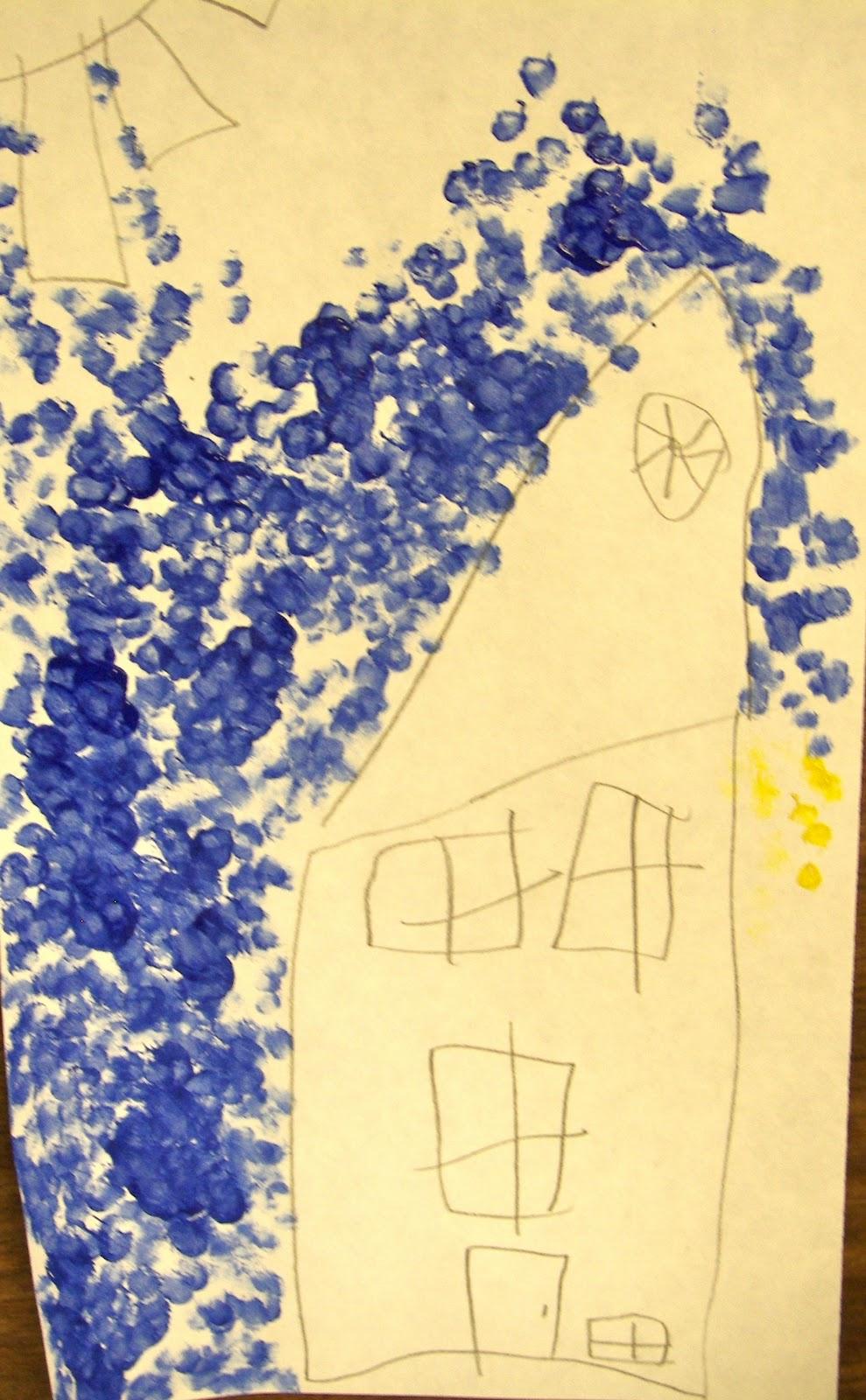 1st Grade Pointillism Organized Chaos