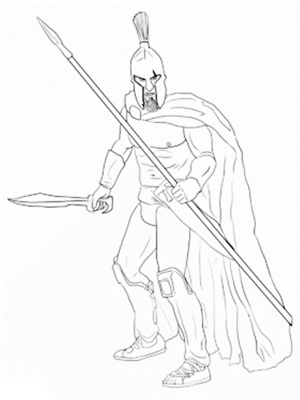 Images Spartan warrior coloring pages
