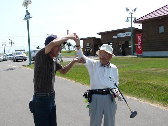 パークゴルフで干場一とバッタリ
