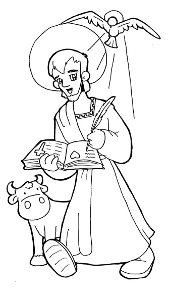 St. Luke the Evangelist coloring pages
