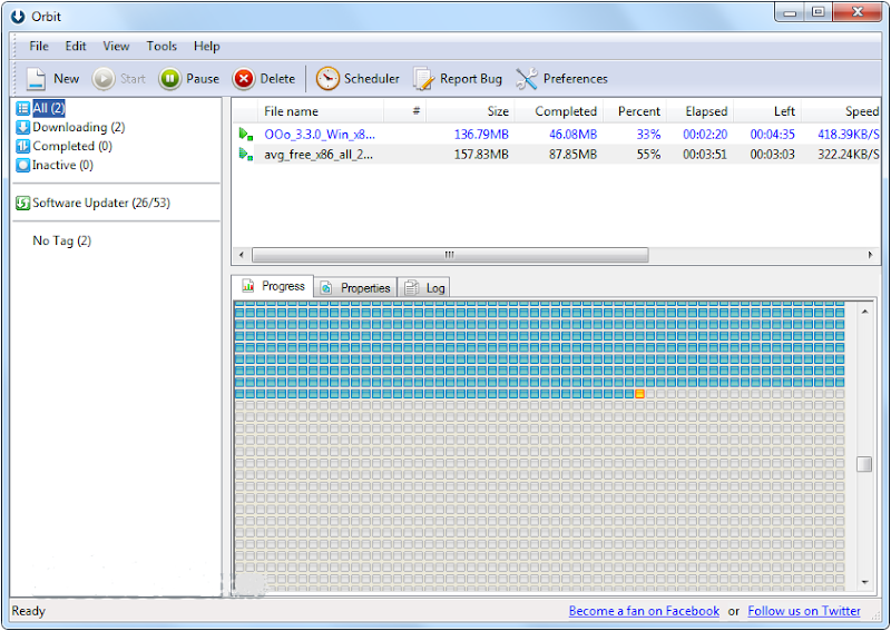 Screenshot of Orbit Downloader v.4.1.1.18 Download Manager PC Software Free Download at Alldownloads4u.Com