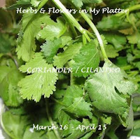 Herbs & Flowers in My Platter - Coriander