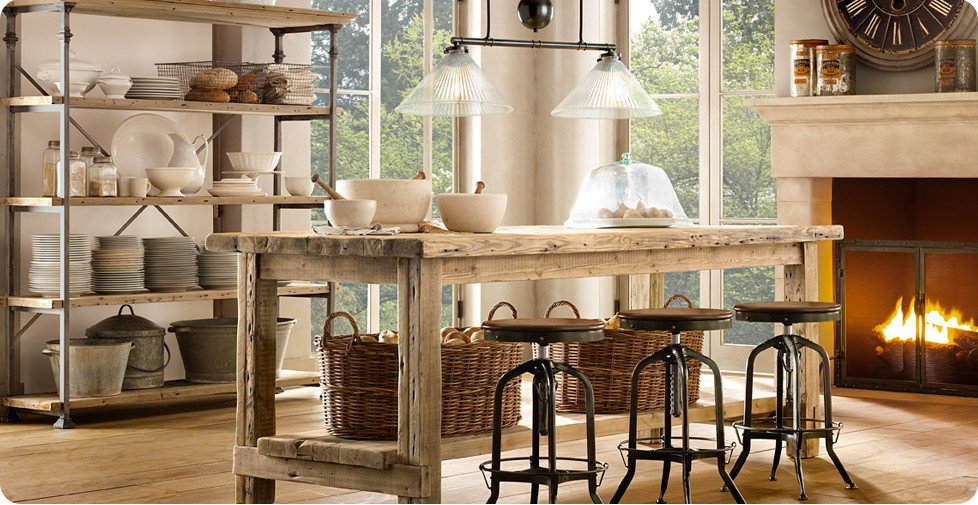 wonderful industrial shabby chic kitchen | Industrial chic and French style - Home Shabby Home ...