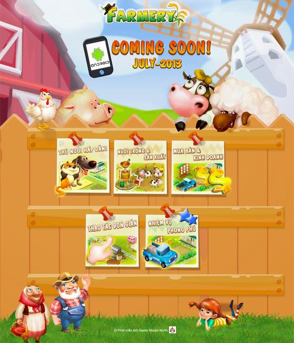VNG trình làng trang giới thiệu cho game Farmery 2