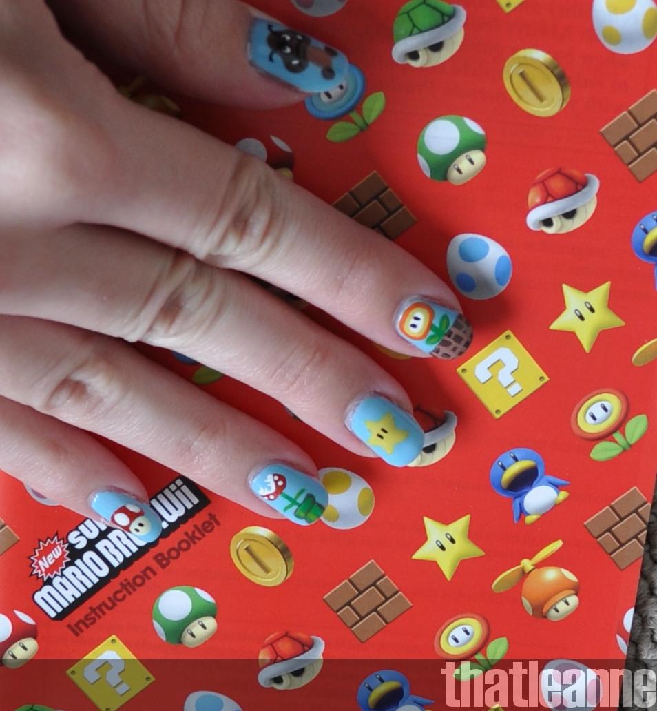 Mario Bros. Nail Art! | Easy Nail Art