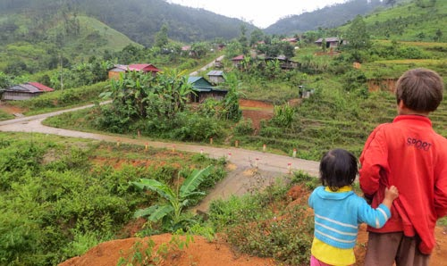 Một góc làng Chum Tam, xã Măng Ri