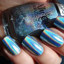 Esmalte holográfico azul