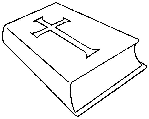 Dibujos Religiosos Para Colorear E Imprimir: Como Dibujar Una Biblia