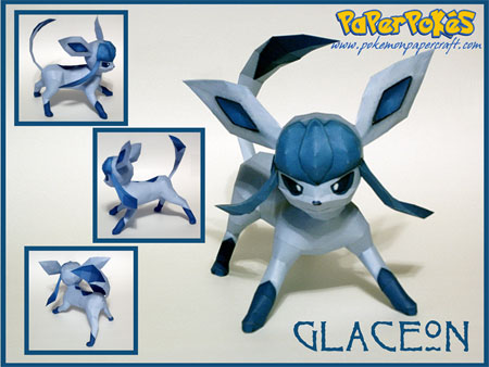 Pokemon Glaceon Paper Model v2