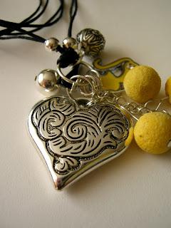 biżuteria z półfabrykatów - wisior z sercem