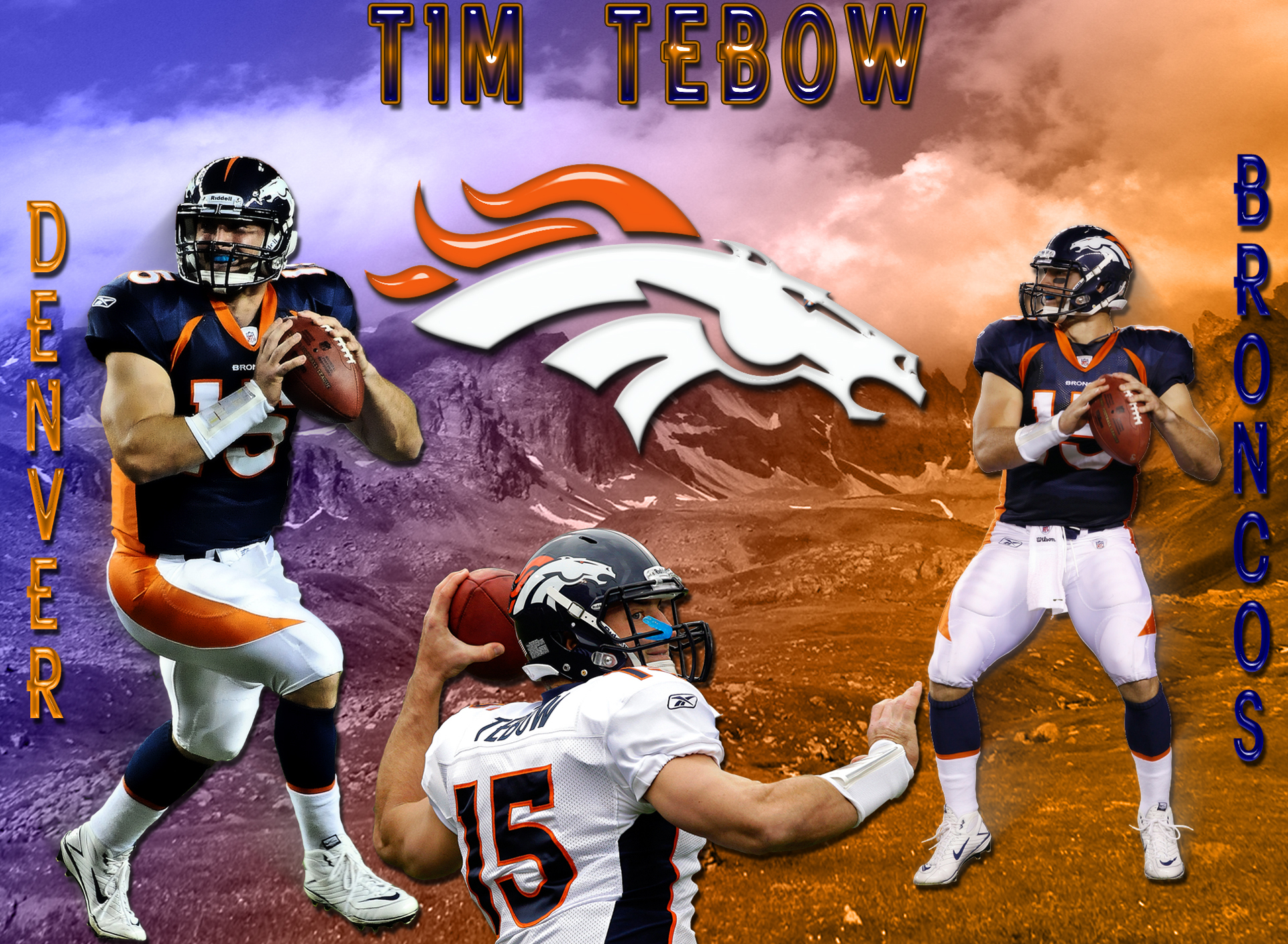 Wallpapers by wicked shadows nfl football wallpapers tim tebow denver broncos wallpaper voltagebd Gallery