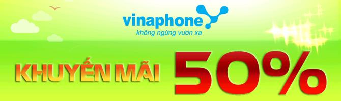 Vinaphone khuyến mại 50%