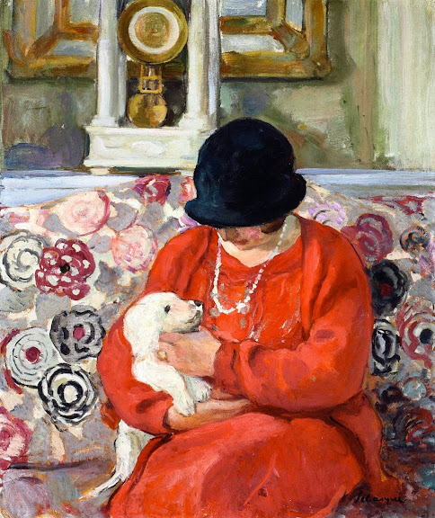 Henri Lebasque - Little White Dog