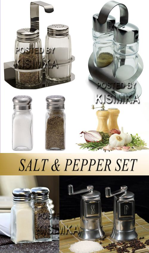 Stock Photo: Salt and pepper set