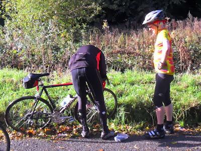 bending over bike