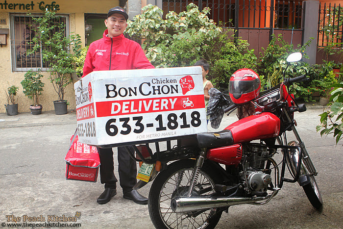 BonChon Chicken Delivery Motorcyle | www.thepeachkitchen.com