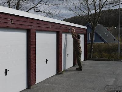 Nya ventiler monterades på garagen för att förbättra ventilationen