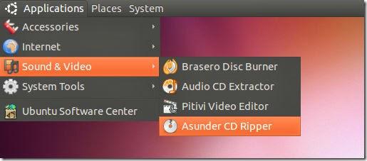 Como convertir un CD de música en MP3 con Asunder en Ubuntu