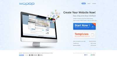 Wopop.com free online website builders