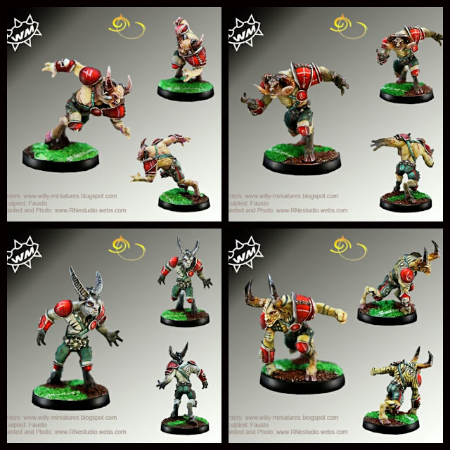 Willy Miniatures Hombres Bestias del Caos Blood Bowl