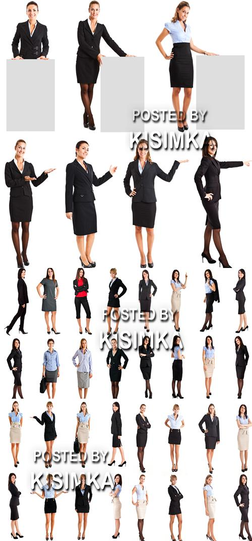 Stock Photo: Full length portraits of businesswomen