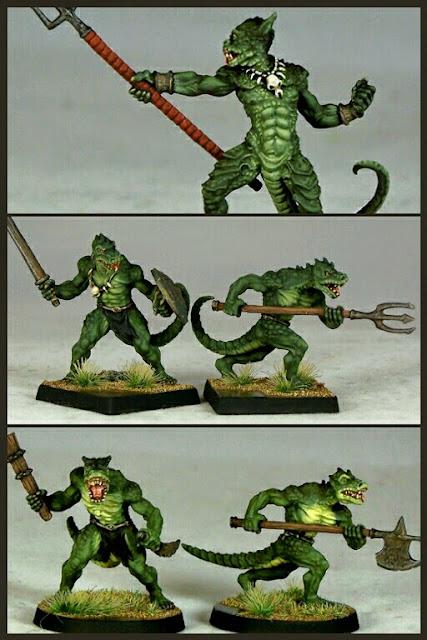 Hombres lagarto de OtherWorld Miniatures