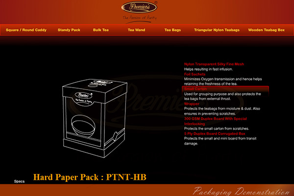packaging specification presentation